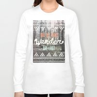 maroon 5 Long Sleeve T-shirts featuring Wander by Wesley Bird