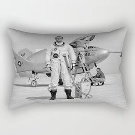 X-24A on Lakebed Rectangular Pillow