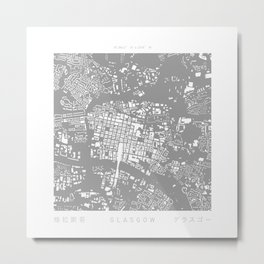 Glasgow Figure Ground Metal Print