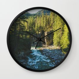 Stehekin Gorge - Pacific Crest Trail, Washington Wall Clock