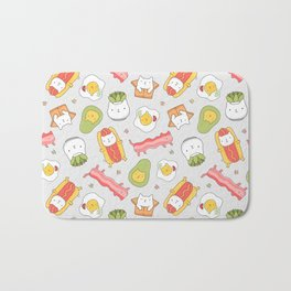 Cat food and succulent Bath Mat