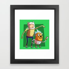 Science Time with Rick and Morty Framed Art Print