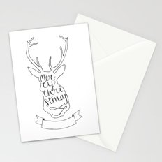 Merry Christmas Deer (1) Stationery Cards