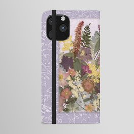 Pressed Flower English Garden iPhone Wallet Case