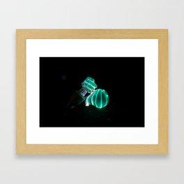 Night Bright Light Bulb Framed Art Print