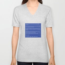 This is a perfect gift for computer users who hates Blue Screen of Death, Classic BSOD Error T-Shirt Unisex V-Neck