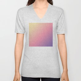 Pastel Yellow, Pink, Purple Gradient Ombre Abstract Unisex V-Neck