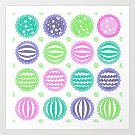 Sugar Treats Pattern Print Art Print