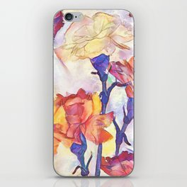Painted Carnations iPhone Skin