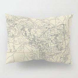 Vintage Map of Jerusalem Israel (1917) Pillow Sham