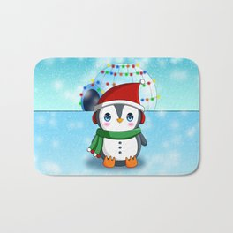 Christmas Penguin Bath Mat
