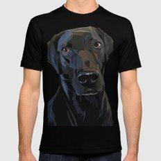 Jeb Lab Dog Black Mens Fitted Tee MEDIUM