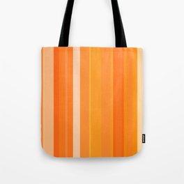 Tangerine Cream Stripes Tote Bag