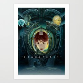 PROMETHEUS vector Art Print