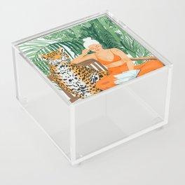 Jungle Vacay #painting #illustration Acrylic Box