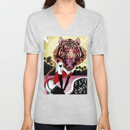 Oh, Tiger! Unisex V-Neck