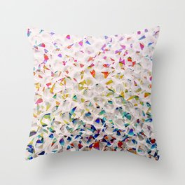 Holographic Bubblewrap Throw Pillow