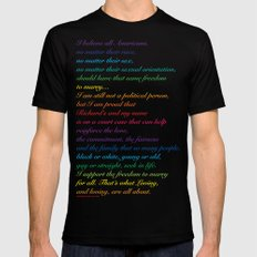 Project: June 12 A quote by Mildred Loving Mens Fitted Tee MEDIUM Black