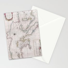 Vintage Map of The Mediterranean Sea (1745) Stationery Cards