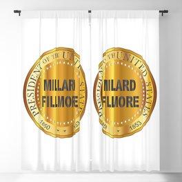 Millard Fillmore Gold Metal Stamp Blackout Curtain