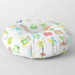 CUTE GREEN / ECO / RECYCLE PATTERN Floor Pillow