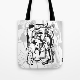 Sunrise - b&w Tote Bag