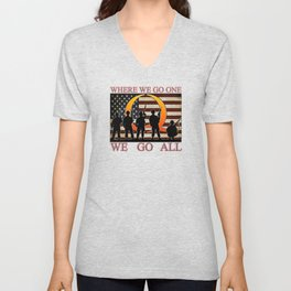 QANON, Where We Go One Unisex V-Neck
