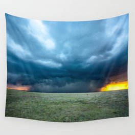 Regeneration - Storm Strengthens With Amazing Color in Texas Wall Tapestry