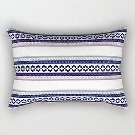 Hipster fairisle modern pixel art fair isle pattern geometric print Rectangular Pillow