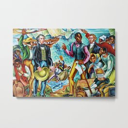 "African American Classical Masterpiece ""The Repatriation of the Freed Captives"" by Hale Woodruff Metal Print"