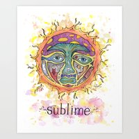sublime Art Prints featuring Sublime by Rachael Amber