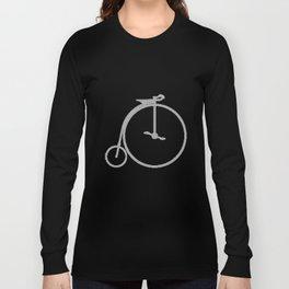 Penny Farthing Halftone Long Sleeve T-shirt