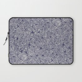 Held Together - a pattern of navy blue doodles Laptop Sleeve