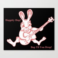 ramones Canvas Prints featuring Rockin' Rabbit by Adam Metzner
