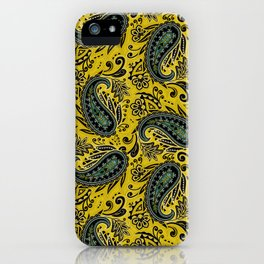 Meredith Paisley - Goldenrod Yellow iPhone Case