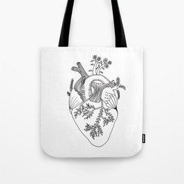 Growing heart Tote Bag