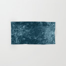 Peacock teal velvet Hand & Bath Towel