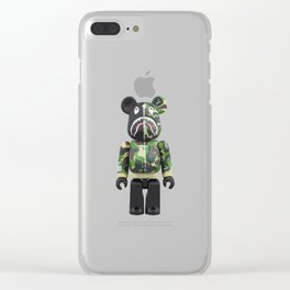 bape robbot Clear iPhone Case