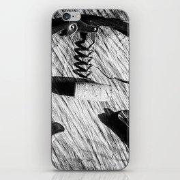 Black and white corkscrew iPhone Skin