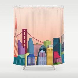 City San Francisco Shower Curtain