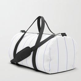 Pinstripes - Blue Duffle Bag