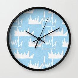 Safari - Bush Plant Blue Wall Clock