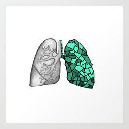 Crunchy Lung Art Print