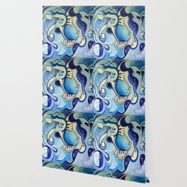 Reves Bleus (blue dreams) Wallpaper