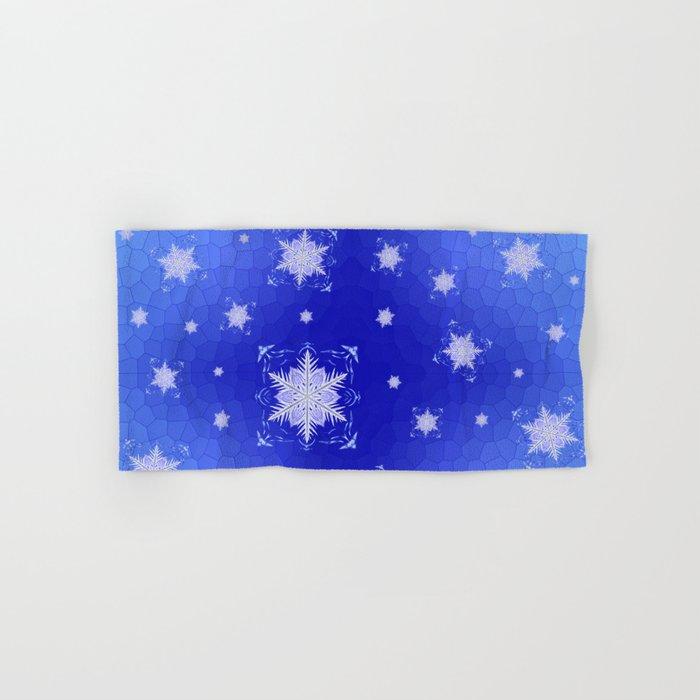 Snowflake Pattern - Bladed Sky Hand & Bath Towel