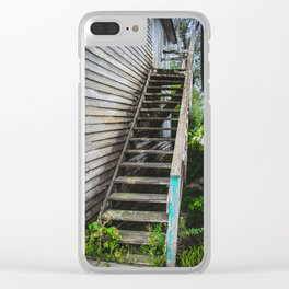 Rickety Stairs, False Front Building, Kathryn, North Dakota Clear iPhone Case