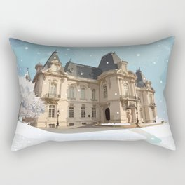 Winter at the Castle Rectangular Pillow