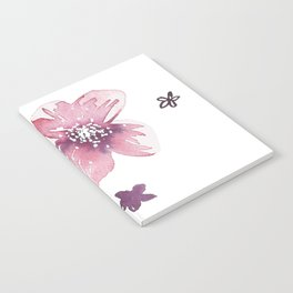 Lilac Pink Watercolour Fiordland Flower Notebook