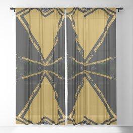 Abstract #775 Sheer Curtain