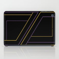 Geometry on black (abstract) iPad Case